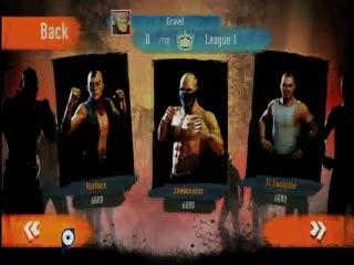 Fighters Uncageg - ecran de selection des opposants